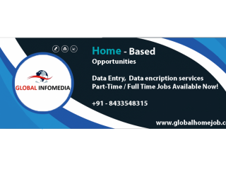 Back office/Data entry operator/computer operator for Freshers.