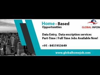 Required Fresher Girls/boys for Data Entry Operator/ Back Office- 2019.