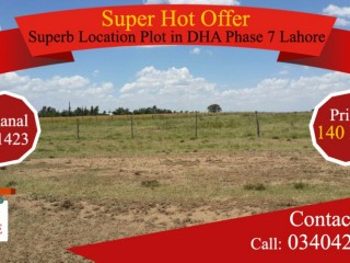 Superb Location Plot in DHA Phase 7 Lahore