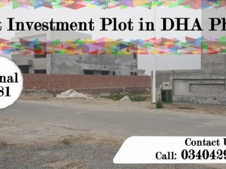 Best Investment Location Plot in DHA Phase 6 Lahore