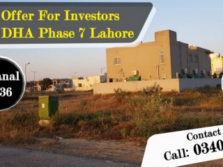 Super OFFER For Investors Plot in DHA Phase 7 Lahore
