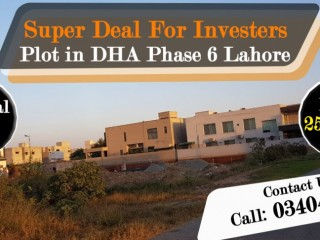 Super Deal For Investers Plot in DHA Phase 6 Lahore