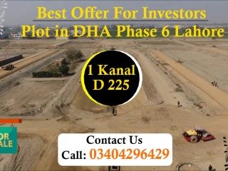 Best Offer For Investors Plot in DHA Phase 6 Lahore