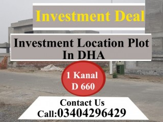 INVESTMENT Deal Plot In DHA Lahore