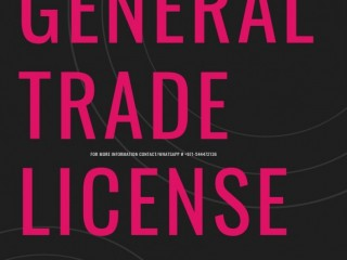 GENERAL TRADING LICENSE FOR IMPORT/EXPORT GLOBALLY
