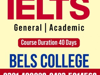 IELTS Get 7+ Bands just in 40 Days BELS COLLEGE