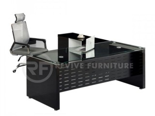 BLACK OFFICE TABLE office furniture online in Lahore