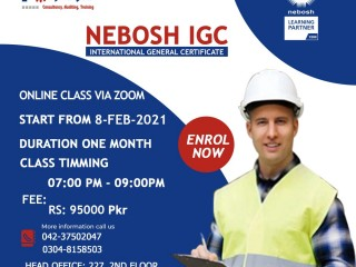 Nebosh course duration and fees in pakistan