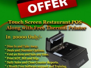 Touch Screen Point of Sale With Free Thermal Printer